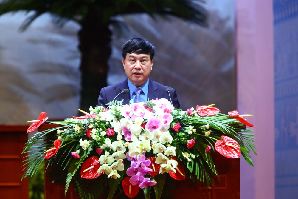 Đồng chí Vũ Anh Đức - Ủy viên Đoàn Chủ tịch, Trưởng ban Tổ chức Tổng LĐLĐVN. Ảnh: Hải Nguyễn.