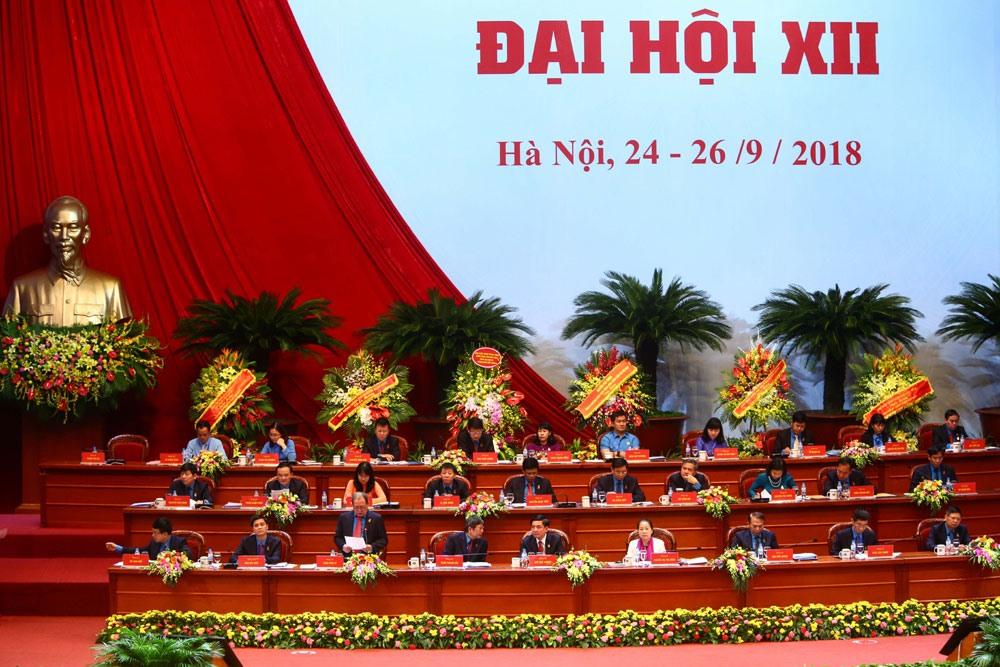 Ngày làm việc thứ hai Đại hội Công đoàn Việt Nam lần thứ XII, chiều 25.9. Ảnh: Sơn Tùng.