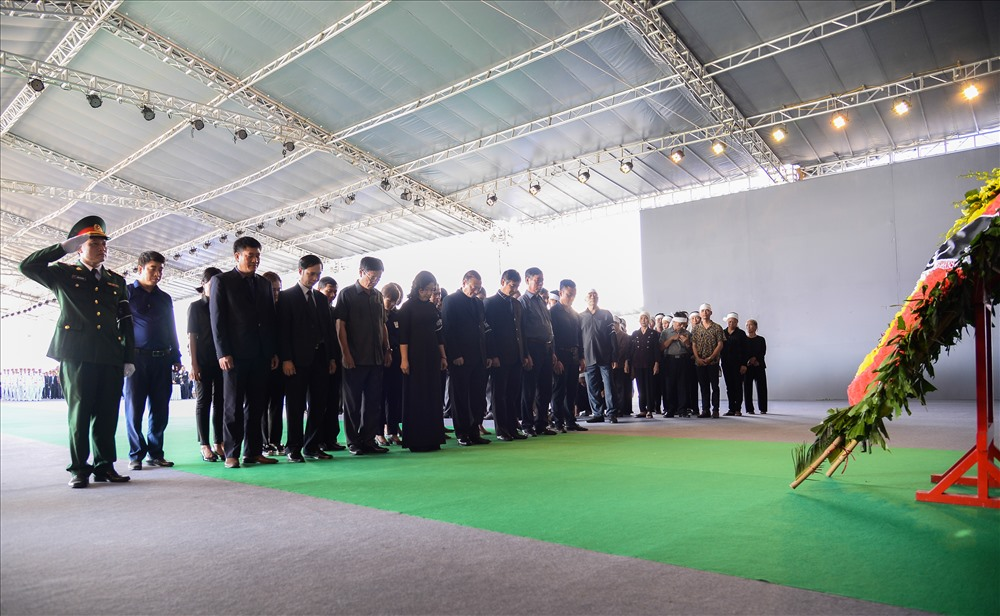 Lễ viếng được tổ chức trang nghiêm theo quy định của Nhà nước.