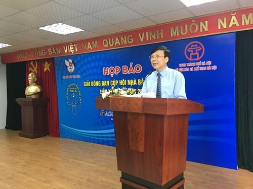 Nhà báo Hồ Quang Lợi- Phó Chủ tịch Thường trực Hội Nhà báo Việt Nam, Trưởng BTC. Ảnh: HH