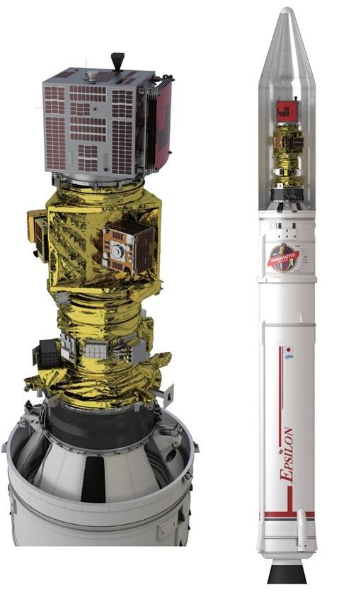 Vệ tinh MicroDragon được gắn vào tên lửa trước khi phóng vào không gian sáng nay 18.1. Ảnh: VNSC