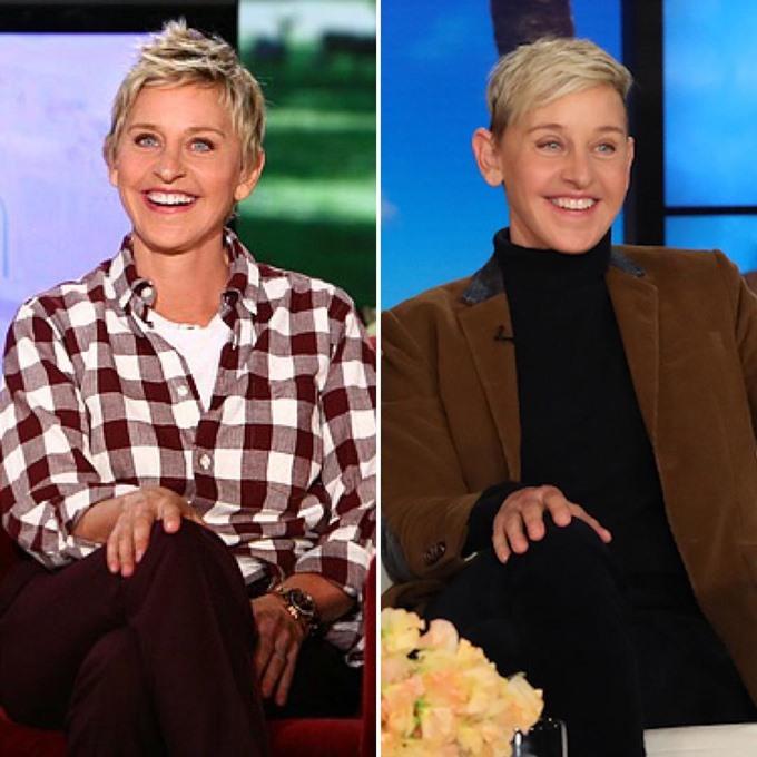 Ở tuổi 61, nữ MC quyền lực Ellen Degeneres trông vẫn trẻ trung và ngoại hình không khác gì cô của 10 năm về trước.