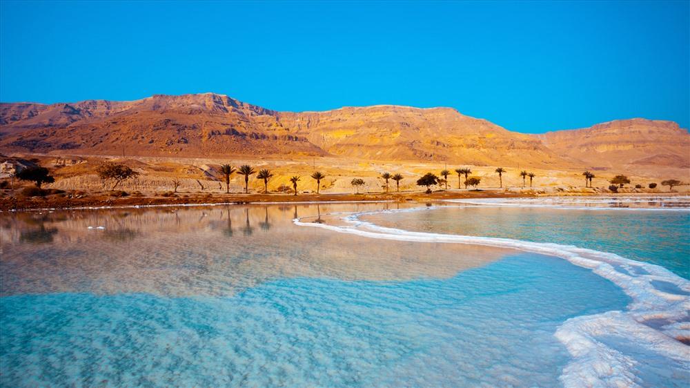 Điểm thấp nhất trên Trái đất là bờ Biển Chết ở Jordan. Nó nằm ở độ cao 1.378ft (420m) dưới mực nước biển.