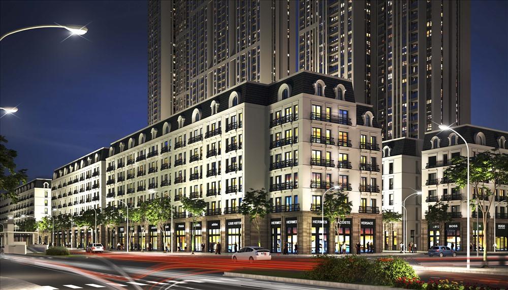 Khu nhà ở thấp tầng với 166 căn liền kề được thiết kế sang trọng, hiện đại.