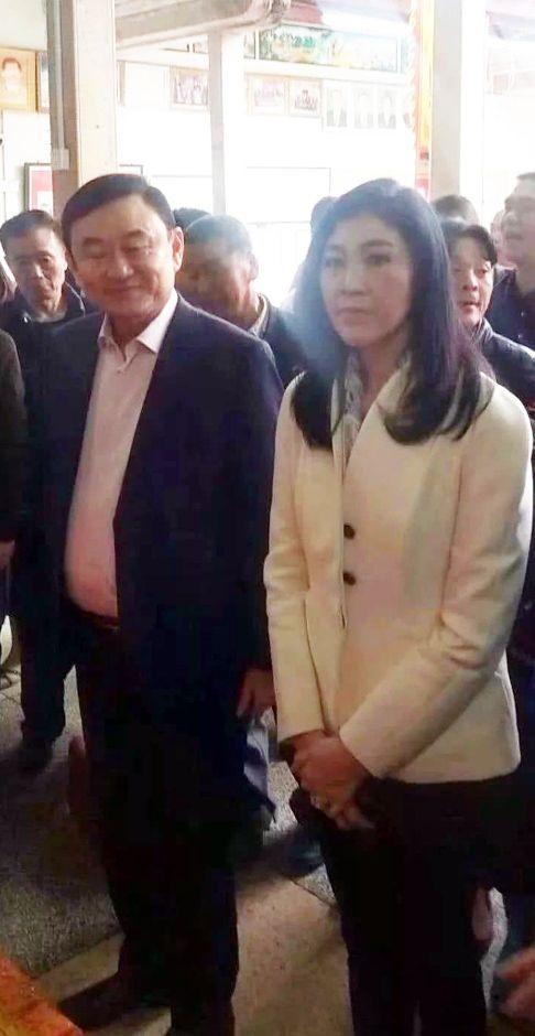 Anh em ông Thaksin-Yingluck đã xuất hiện tại Nhật Bản, Trung Quốc, Singapore trong năm 2018. Ảnh: SCMP.