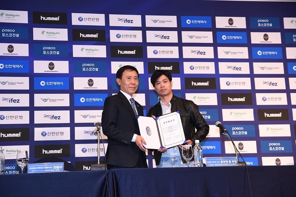 Công Phượng thi đấu cho Incheon United với bản hợp đồng cho mượn 1 năm, được biết chế độ đãi ngộ của đại diện K.League với tiền đạo xứ Nghệ là không hề thấp. Ảnh: Incheon United