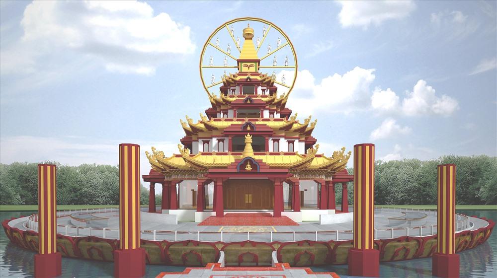 Cung điện Liên Hoa - cảnh giới Tịnh độ của chư Phật.