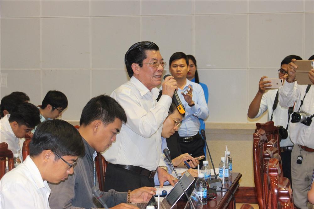 Ông Phạm Văn Cường phát biểu tại cuộc họp báo.
