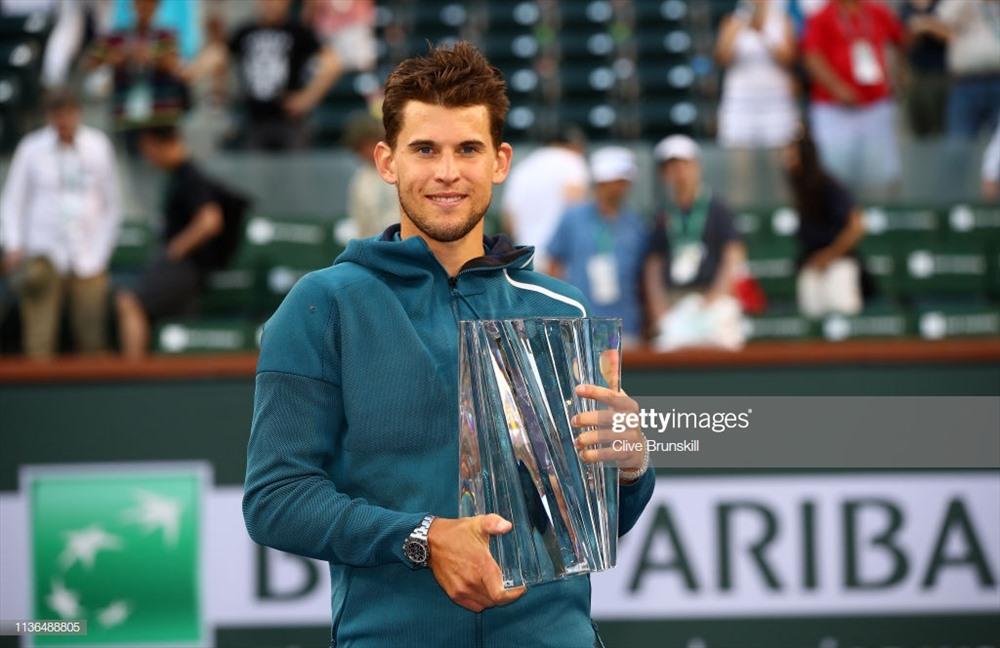 Thiem xuất sắc vượt qua Federer, giành danh hiệu ATP 1000 đầu tiên trong sự nghiệp. Ảnh: Getty.
