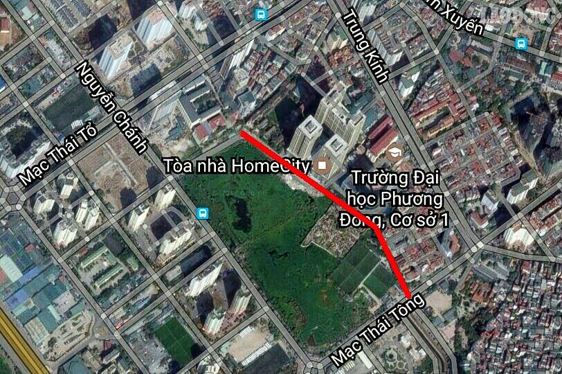 Dự án Công viên hồ điều hòa Nam Trung Yên - Khu đô thị phía Tây Nam Hà Nội thuộc địa phận 2 phường Trung Hòa và Yên Hòa, quận Cầu Giấy do Công ty CP Tập đoàn Đại Dương (Ocean Group) thực hiện.