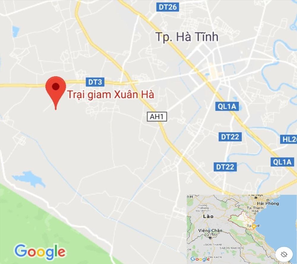 Khu vực trại giam Xuân Hà - Ảnh: Google