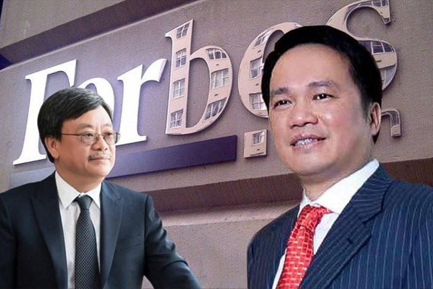 Hai tỉ phú USD mới của Việt Nam, ông Nguyễn Đăng Quang (bên trái) và ông Hồ Hùng Anh (bên phải).