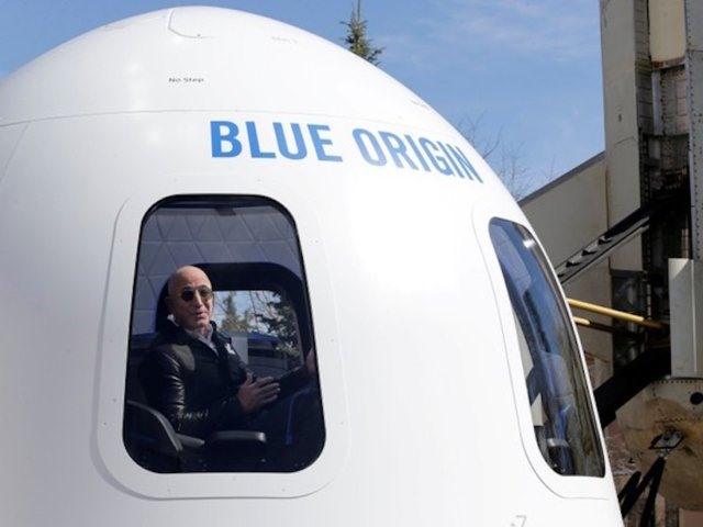 Liên doanh đầy tham vọng nhất của Bezos có thể là Blue Origin, công ty thám hiểm không gian của ông. Blue Origin đã có nhiều chuyến bay thử nghiệm thành công tên lửa New Shepard có thể tái sử dụng của mình và hiện đang phát triển hệ thống tên lửa New Glenn lớn hơn, có thể tái sử dụng, nhằm cạnh tranh với SpaceX của Elon Musk. Về lâu dài, Bezos dự định cho Blue Origin hỗ trợ các chuyến bay vũ trụ của con người quy mô lớn, với mục tiêu xâm chiếm hệ mặt trời.