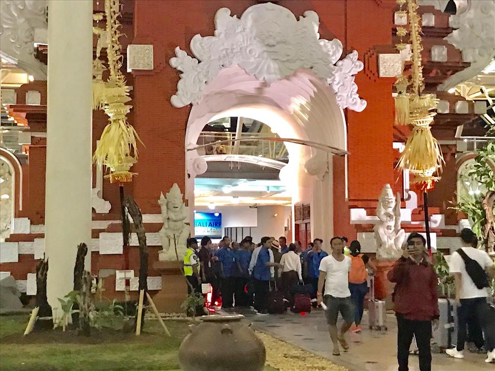 Cổng vào sân bay quốc tế Ngurah Rai của Bali (Indonesia). Ảnh: H.V.M