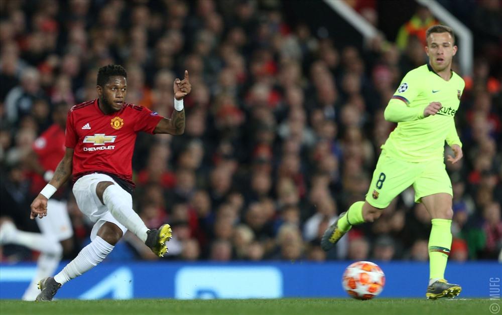 Fred và Lukaku đá tích cực nhưng chưa hiệu quả. Ảnh: MUFC.
