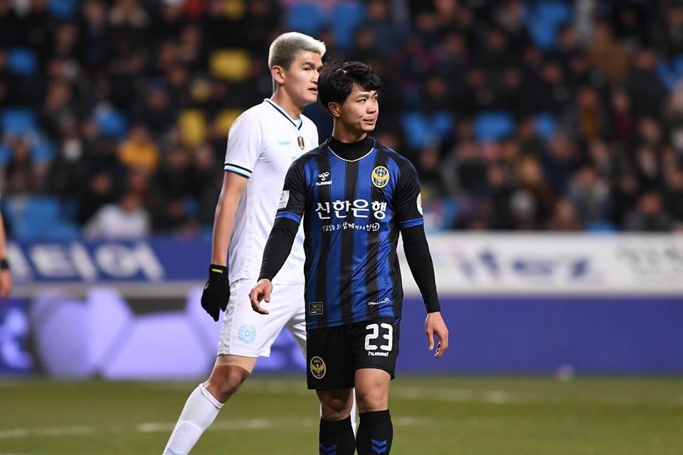 Công Phượng chỉ được ra sân từ đầu hiệp 2 (Ảnh: Incheon United)