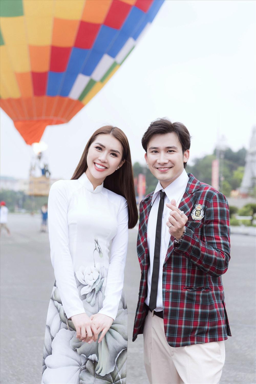 Hoa hậu Tường Linh và Chí Thiện.