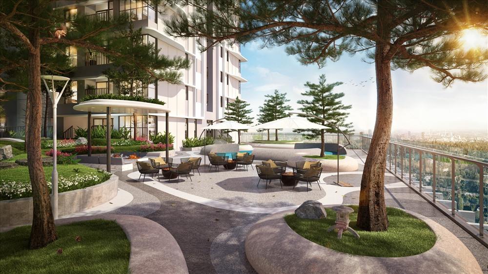 Thiết kế thông minh của The Zen Residence gần gũi với thiên nhiên. Ảnh: Gamuda
