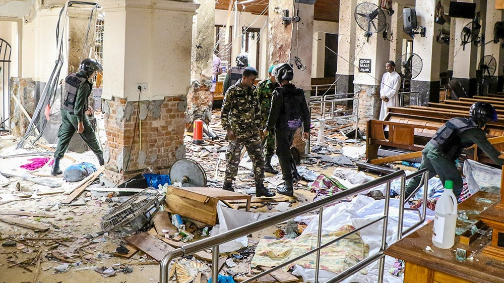 Security forces inspect the St. Anthony's Shrine. Three of the explosions took place in Catholic churches, while three other were reported in the Cinnamon Grand, Kingsbury and Shangri-La hotels, located in the heart of Colombo. CHAMILA KARUNARATHNE/ANADOLU AGENCY/GETTY IMAGES