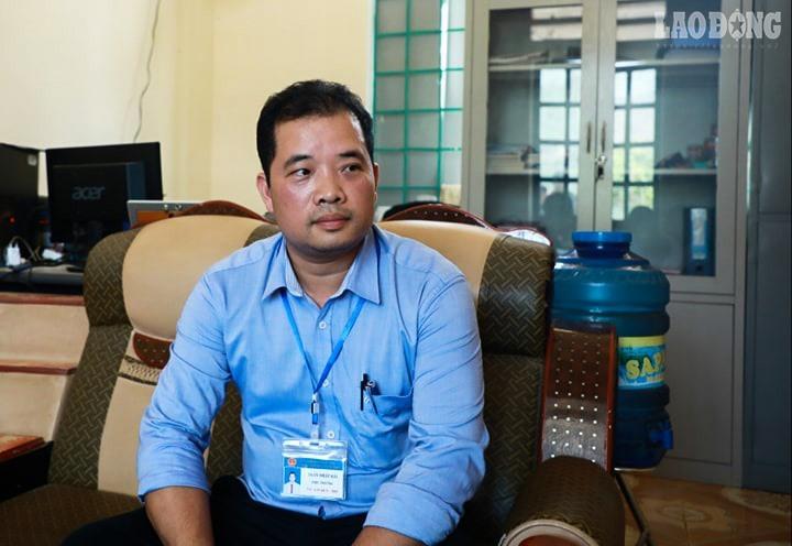 Thầy Trần Nhật Hải, hiệu trưởng trường THCS Thượng Hà 2.
