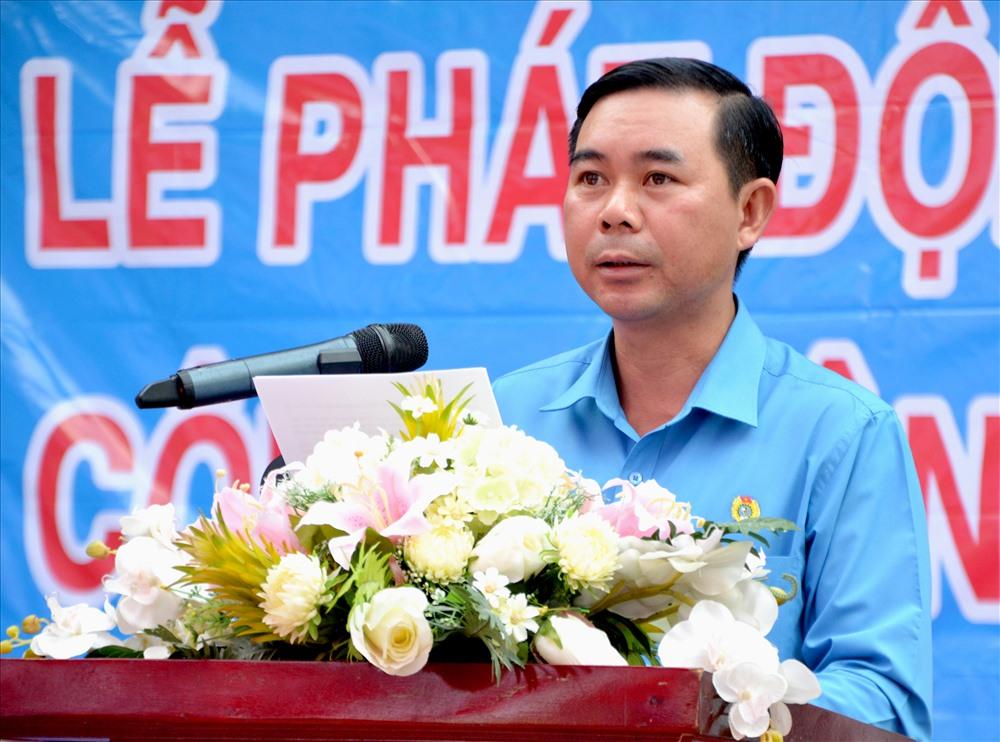 Ông Phan Xuân Trí phát biểu khai mạc lễ phát động. Ảnh: Lục Tùng
