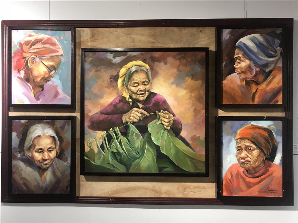 """Tác phẩm """"Những câu chuyện cuối"""" của họa sĩ Hà Châu."""