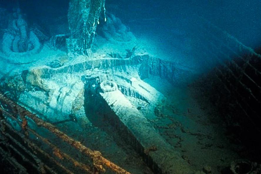 Xác tàu Titanic, con tàu bị chìm năm 1912, được tìm thấy năm 1985. Ảnh: CNN