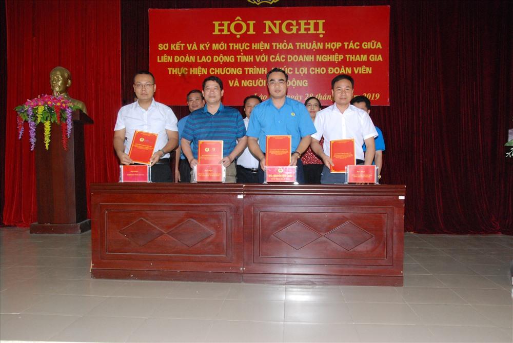 LĐLĐ tỉnh Lào Cai ký phối hợp với 3 đối tác mới.