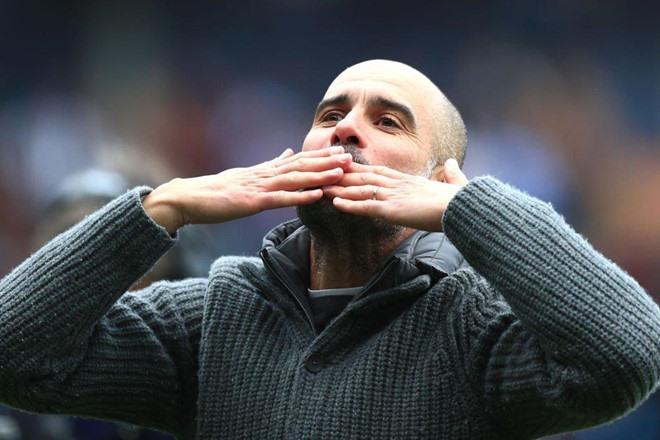 Pep Guardiola chuẩn bị có danh hiệu vô địch quốc nội thứ 8 trong sự nghiệp. Ảnh Getty