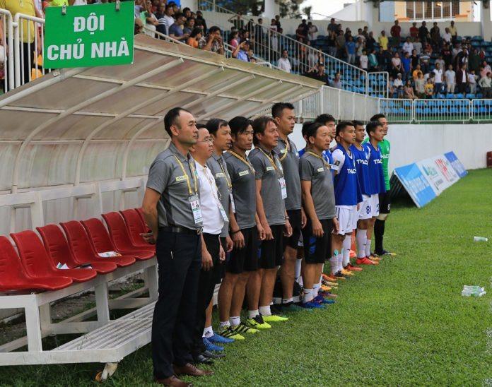 Tân HLV của HAGL Lee Tae-hoon lần đầu tận hưởng niềm vui chiến thắng sau khi ngồi ghế HLV trưởng đội bóng phố Núi.