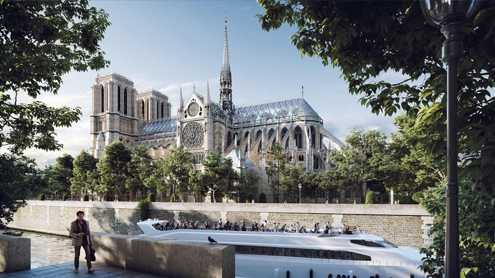 Phía dưới chân nhà thờ, các kiến trúc sư cũng đã thiết kế một không gian mới cho du khách