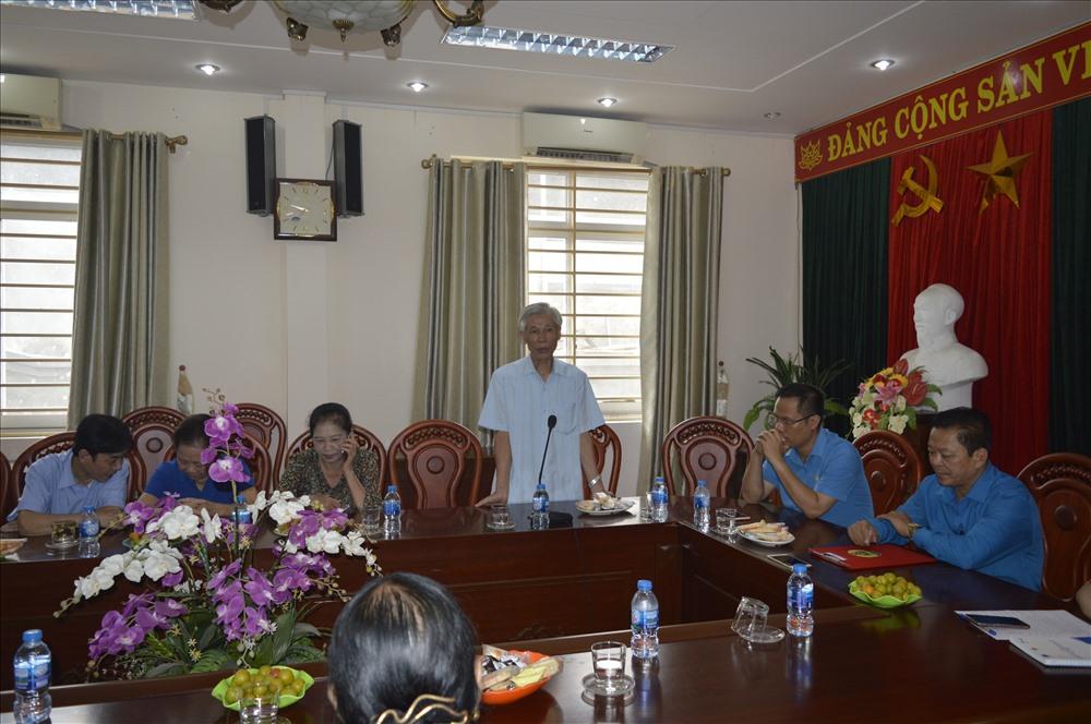 Đồng chí Ngô Sỹ Hưởng – nguyên Trưởng đoàn đại biểu Quốc hội tỉnh Thái Nguyên, nguyên Phó Chủ tịch LĐLĐ TP. Thái Nguyên phát biểu tại buổi gặp mặt.