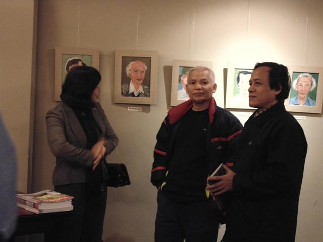 Chân dung nghệ sĩ Việt Nam trong tranh của một cựu binh Mỹ