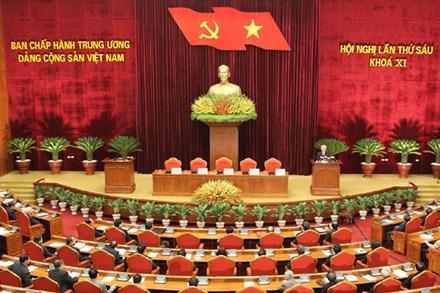 Bế mạc Hội nghị lần thứ sáu Ban Chấp hành Trung ương Đảng khóa XI