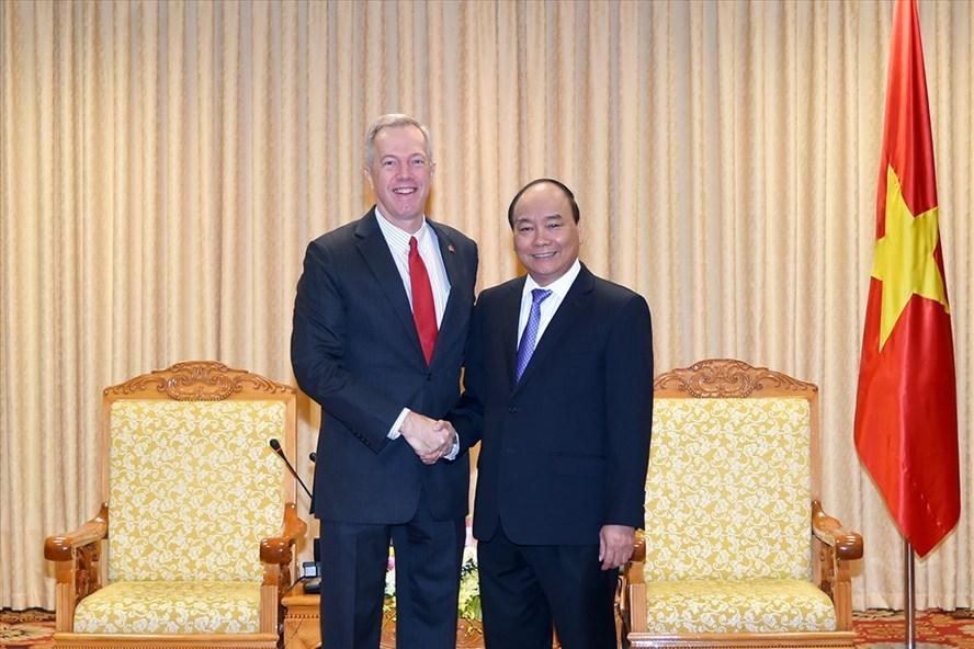 Thủ tướng Nguyễn Xuân Phúc tiếp Đại sứ Hoa Kỳ tại Việt Nam Ted Osius. Ảnh: VGP