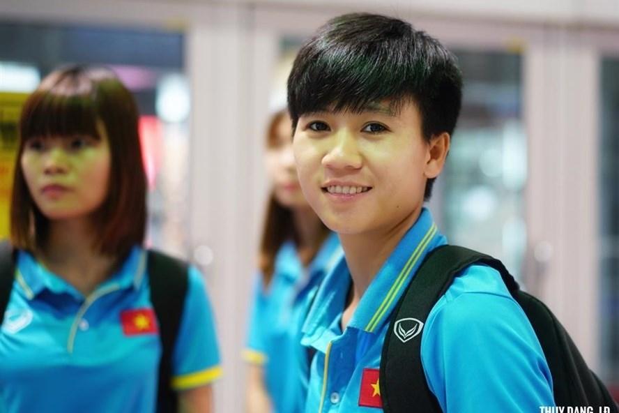 Tiền vệ Tuyết Dung là một trong những gương mặt tiêu biểu của bóng đá nữ VN. Ảnh: Thuỷ Đặng