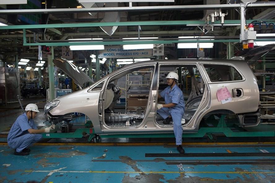 Sản xuất tại nhà máy Toyota Việt Nam (nguồn ảnh: Toyotavn.com.vn)