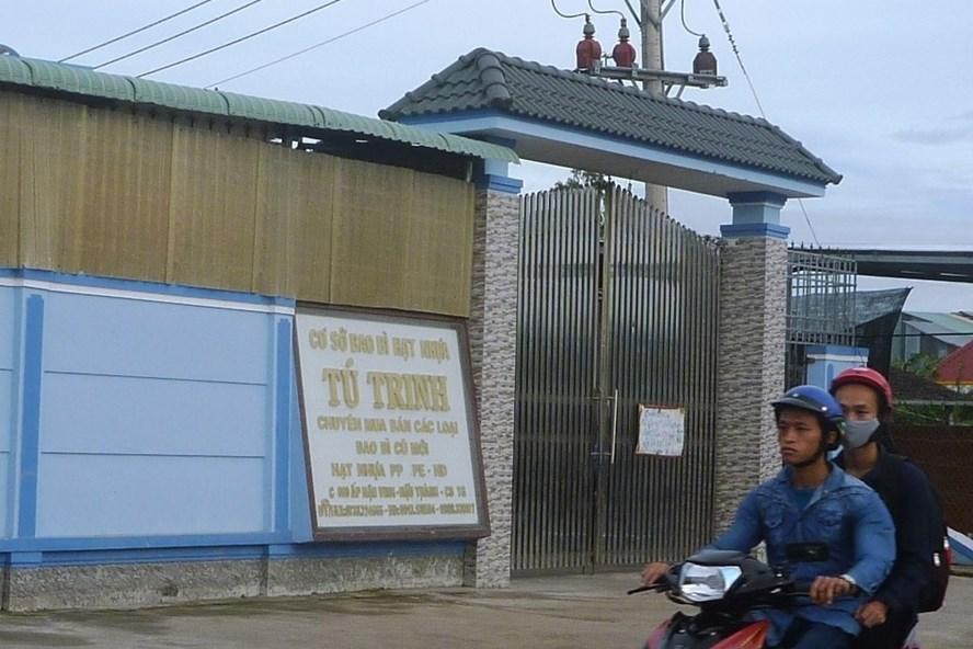 Cơ sở nhựa Tú Trinh nằm ở huyện Cái Bè (ảnh: P.V)