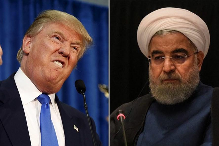 Tổng thống Mỹ Donald Trump và Tổng thống Iran Hassan Rouhani. Ảnh: Reuters
