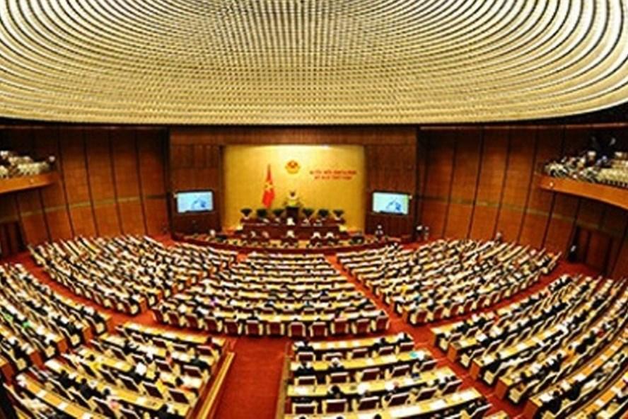 Quốc hội vừa biểu quyết thông qua Nghị quyết về phân bổ ngân sách năm 2018. Ảnh: QH