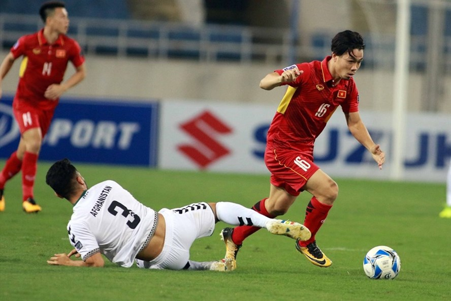 ĐT Việt Nam đã chính thức giành vé dự Asian Cup 2019 sau trận hòa 0-0 trước Afghanistan. Ảnh: H.T