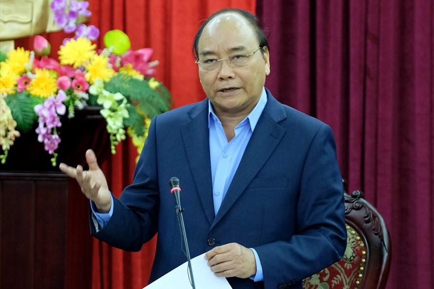 Thủ tướng phát biểu tại buổi làm việc với lãnh đạo chủ chốt tỉnh Bắc Kạn. Ảnh: VGP/Quang Hiếu