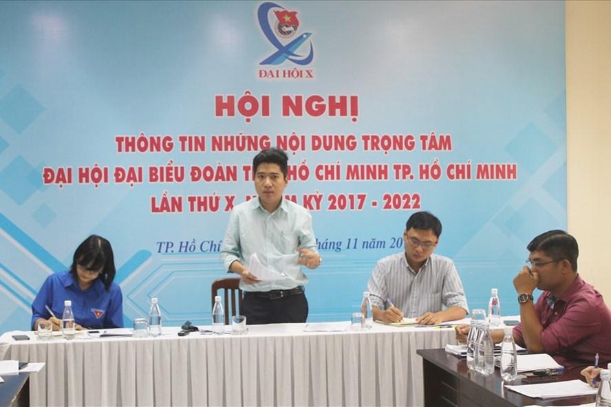 Thường trực Thành đoàn thông tin về những nội dung trọng tâm của Đại hội đại biểu Đoàn TNCS Hồ Chí Minh TP.HCM lần thứ X, nhiệm kỳ 2017 – 2022