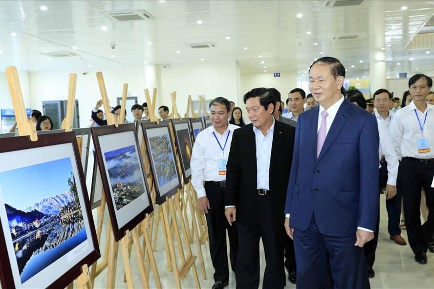 Chủ tịch Nước trong lần kiểm tra cuối cùng, tổng duyệt APEC 2017 tại Đà Nẵng.