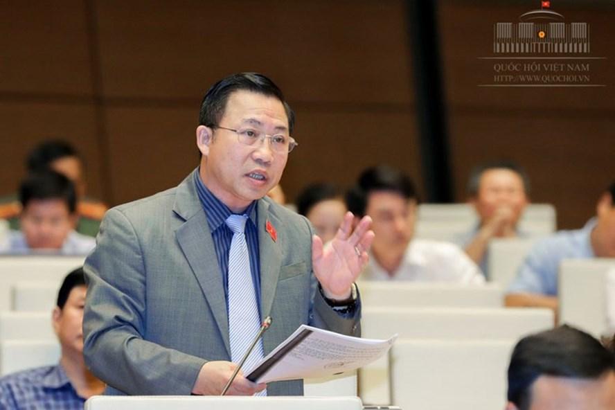Ông Lưu Bình Nhưỡng phát biểu tại Quốc hội. Ảnh: Q.H