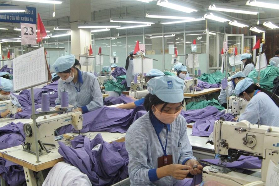 Năng suất lao động ngành dệt may đã tăng lên đáng kể trong 10 năm qua. Ảnh: PV