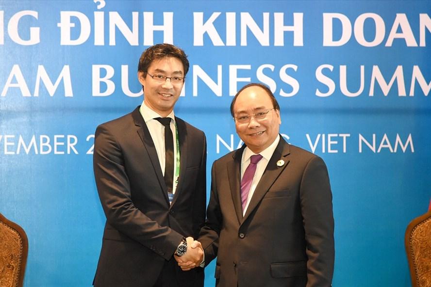 Thủ tướng Nguyễn Xuân Phúc tiếp ông Philipp Rosler, Giám đốc Điều hành WEF. Ảnh: VGP