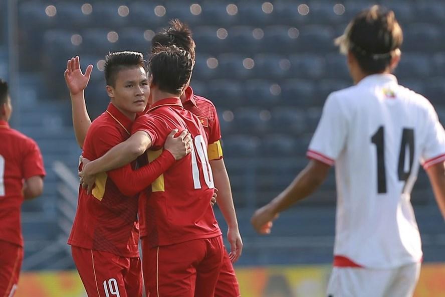 U.23 Việt Nam thắng đậm trong trận mở màn. Ảnh: MINH TÙNG