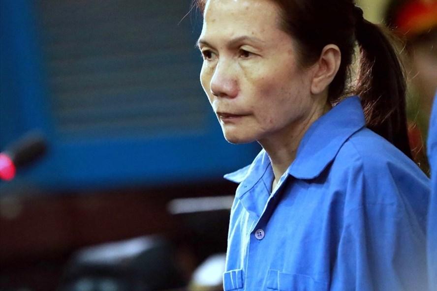 Bị cáo Oanh đối mặt án tử. Ảnh: Phan Hồng.