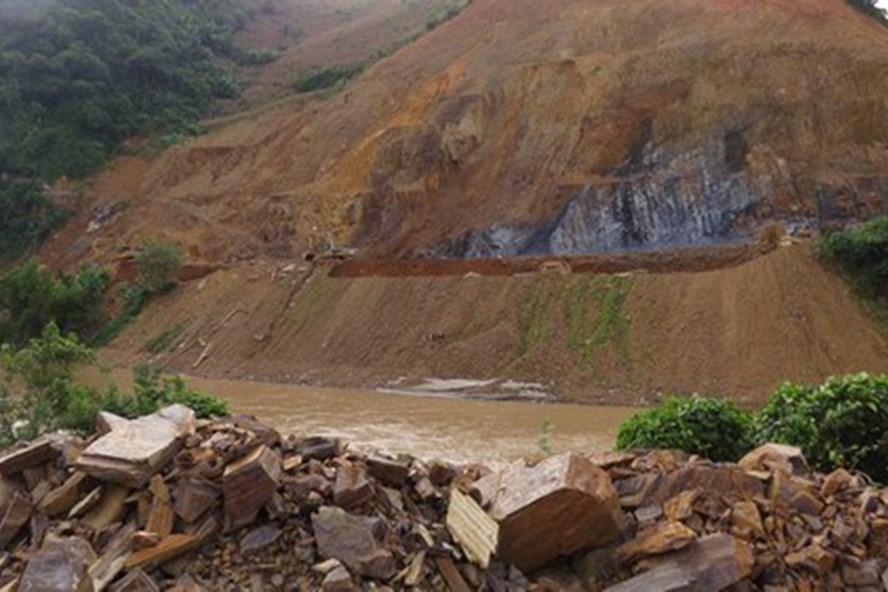 Thủy điện Nậm Na 1, nơi xảy ra vụ tai nạn khiến 3 công nhân thương vong. Ảnh: DV.